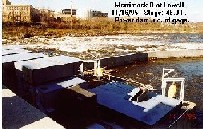Photograph of the Merrimack River at Lowell, MA (LOWM3) power dam just upstream of the gage