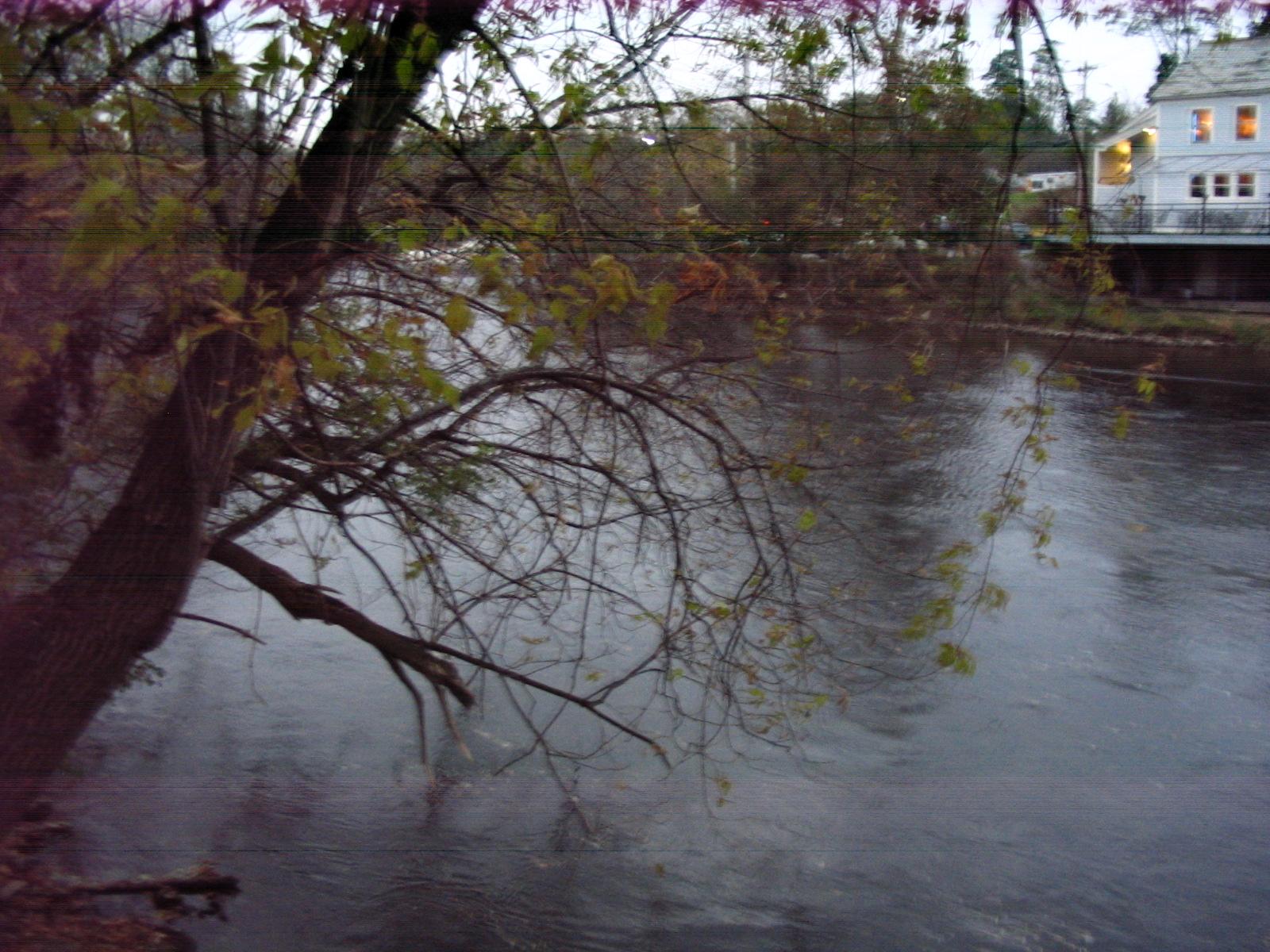 Photograph of the Otter Creek at Middlebury, VT (MDBV1) looking upstream