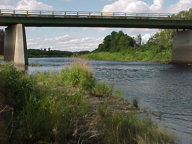 Photograph of the Aroostook River at Masardis, ME (MASM1) looking upstream