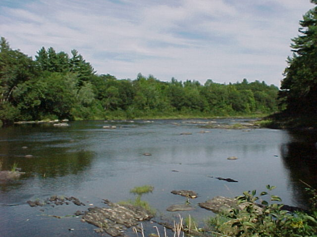 Photograph of the Sandy River at Mercer, ME (MERM1) looking downstream