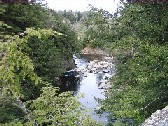Photograph of the Missisquoi River downstream of of the waterfalls near North Troy, VT (NTYV1)