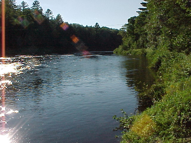 Photograph of the Carrabassett River at North Anson, ME (NANM1) looking upstream