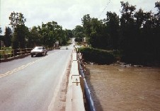 Photograph of the Genesee River At Portageville, NY (PRTN6) looking toward the village