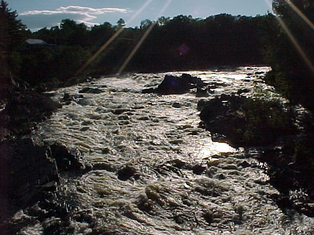 Photograph of the Sebasticook River at Pittsfield, ME (PITM1) looking upstream