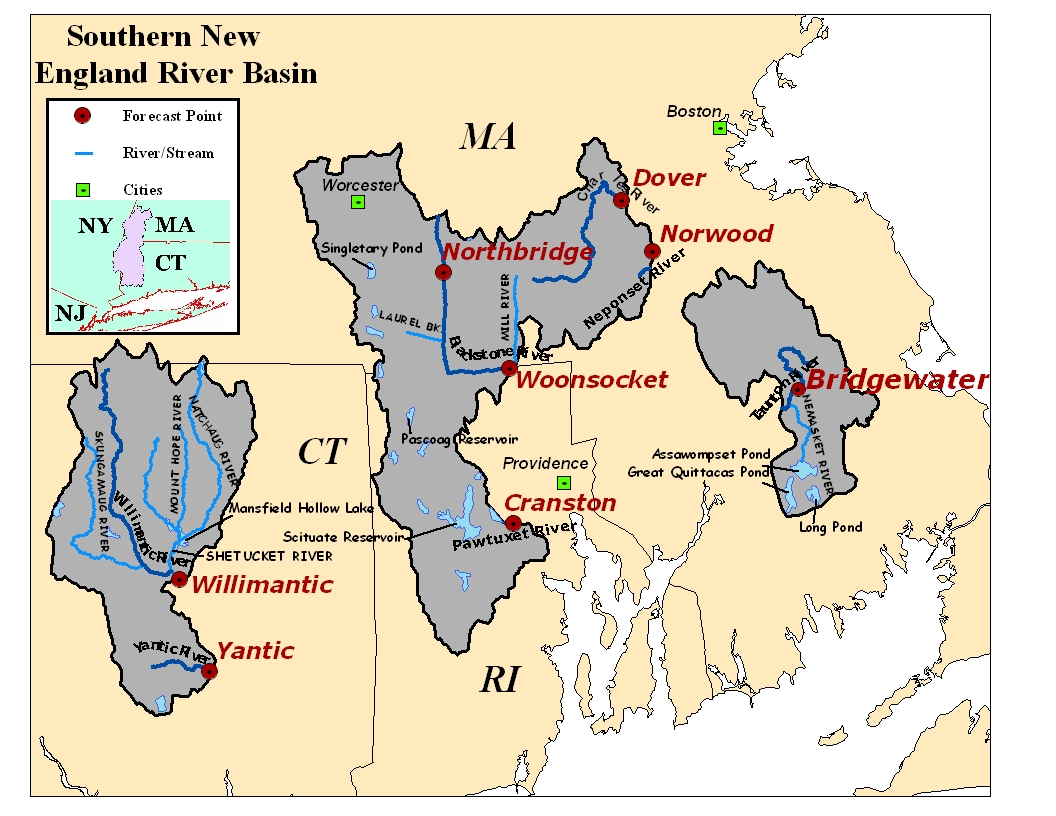 Map of the Southern River Basins. Click on the image to go to the interactive AHPS page.