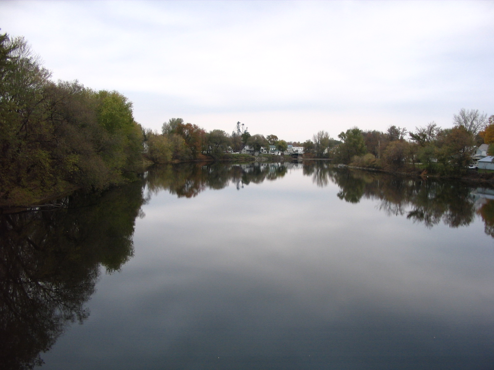 Photograph of the Missisquoi River at Swanton, VT (SWAV1) looking downstream
