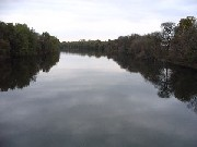 Photograph of the Missisquoi River at Swanton, VT (SWAV1) looking upstream