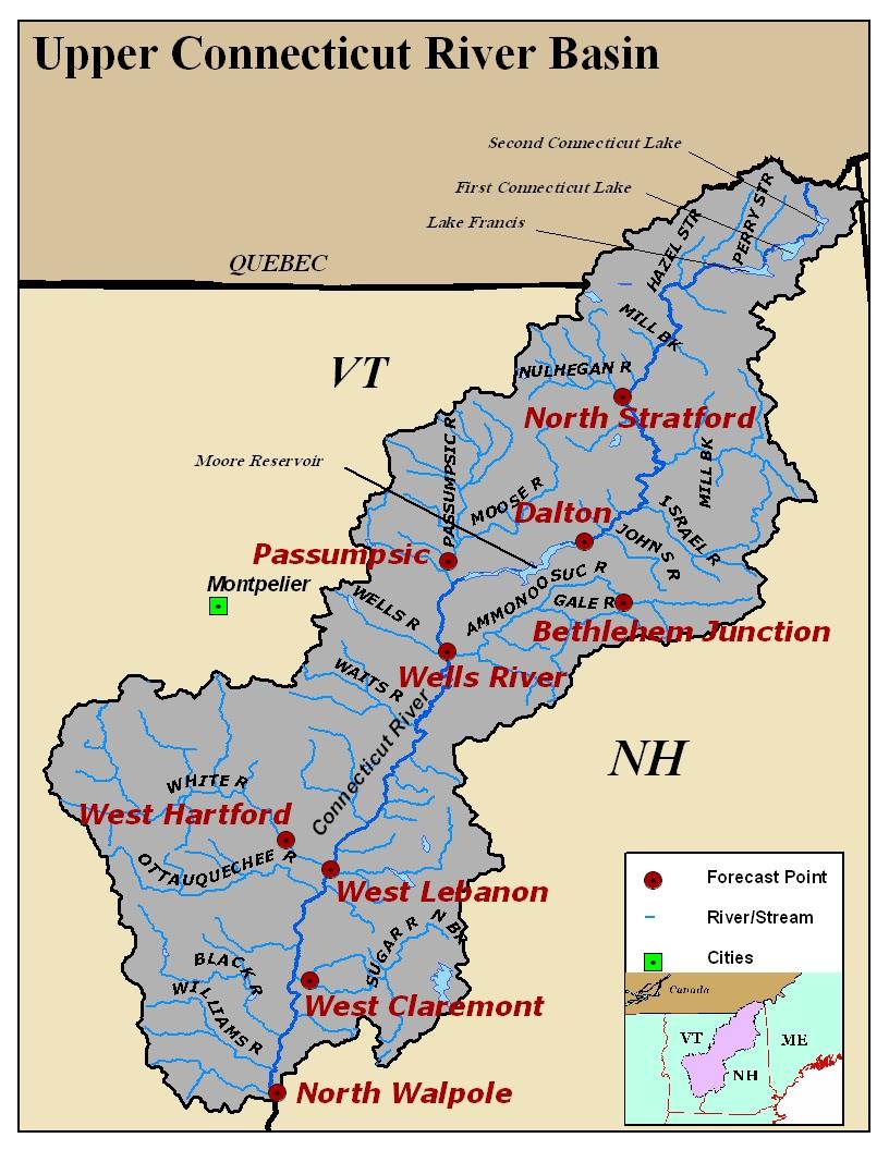 Connecticut River Basin Photos - Us-map-connecticut