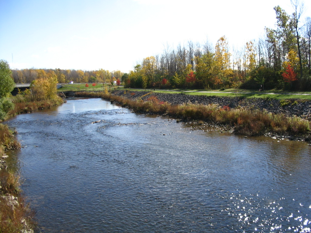 Photograph of the Ellicott Creek Below Williamsville, NY (WILN6) looking downstream