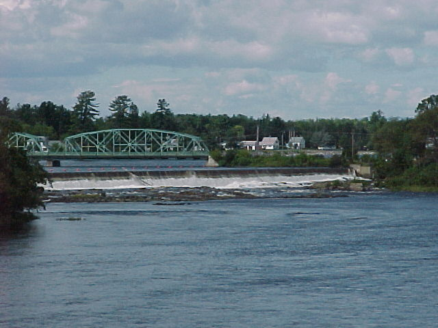 Photograph of the Penobscot River at West Enfield, ME (WENM1) looking upstream