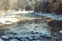 Photograph of river ice along the Black River in Boonville, NY in December 2002