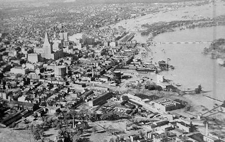 Image of flooding in Hartford, CT caused by the 1938 New England hurricane.