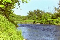 Photograph of the Lamoille River at Johnson, VT (JONV1) looking upstream