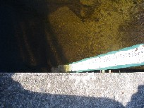 Photograph of the Spicket River at Methuen, MA (MTHM3) staff gage
