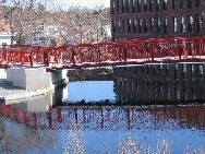 Photograph of the Spicket River at Methuen, MA (MTHM3)