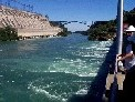 Photograph of Niagara Power Project from Lewistown Bridge to Canada
