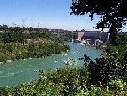 Photograph upstream of the Niagara Power Project