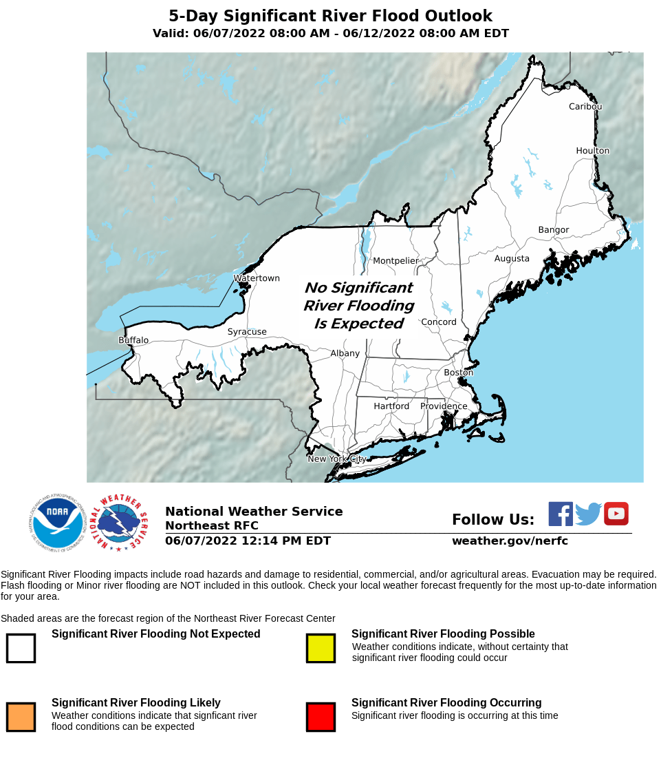 NERFC 5 Day Significant River Flood Outlook Graphic.