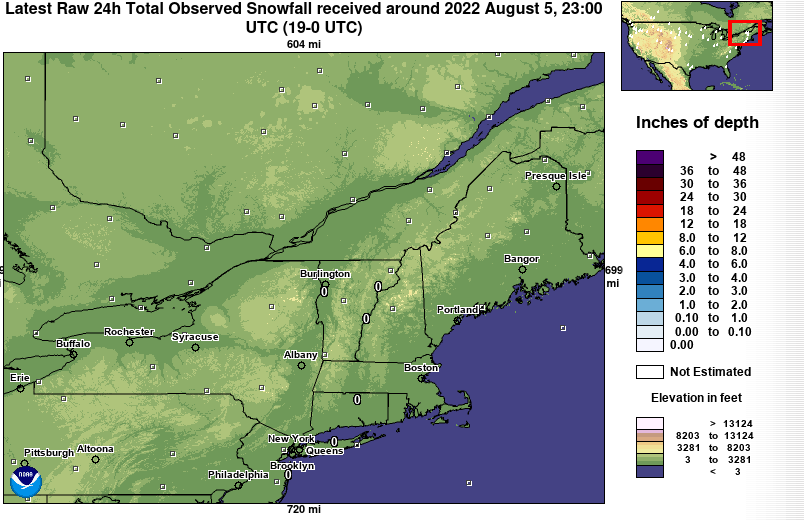 Latest Snowfall in New England - NOAA