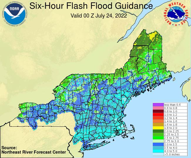 Latest 6-hour Flash Flood Guidance Graphic.