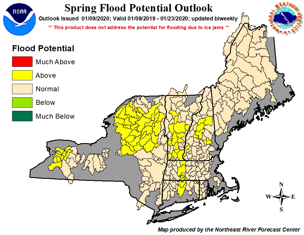 Spring Flood Potential Outlook Graphic