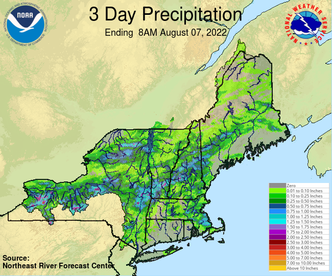 NERFC 3Day Gage Precipitation Graphic