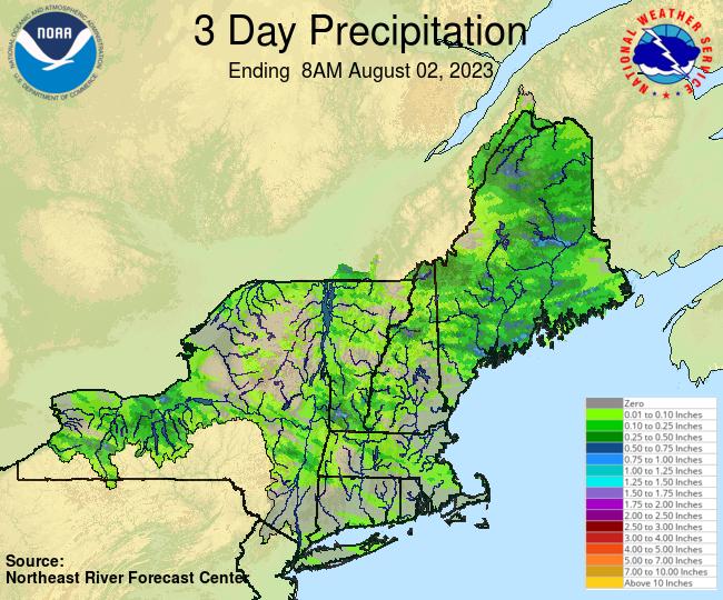 NERFC 3Day Gage Precipitation Graphic