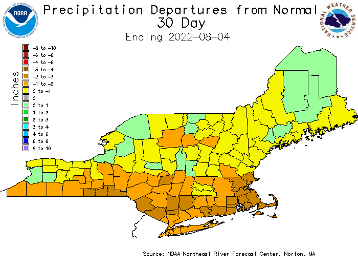 Precipitation and Departures from Normal