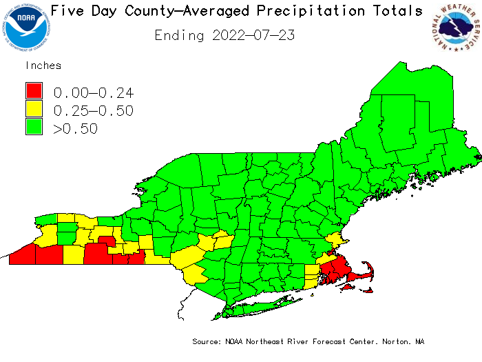 Short-term Precipitation Totals