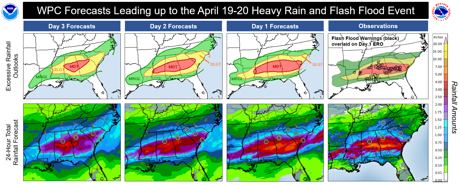Excessive rainfall and flood outlooks