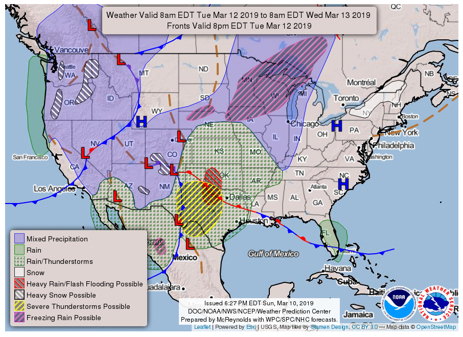 National Weather Map For Tomorrow The New NOAA/NWS National Forecast Chart
