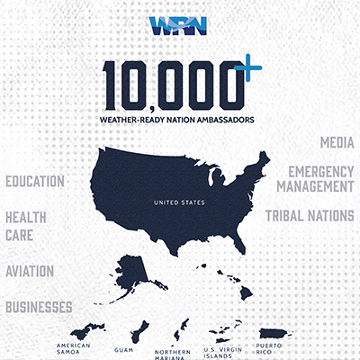 Weather-Ready Nation Ambassador Program Reaches 10,000 Strong
