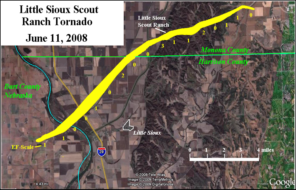 Ef5 Tornado Damage Before And After Little Sioux Tornado