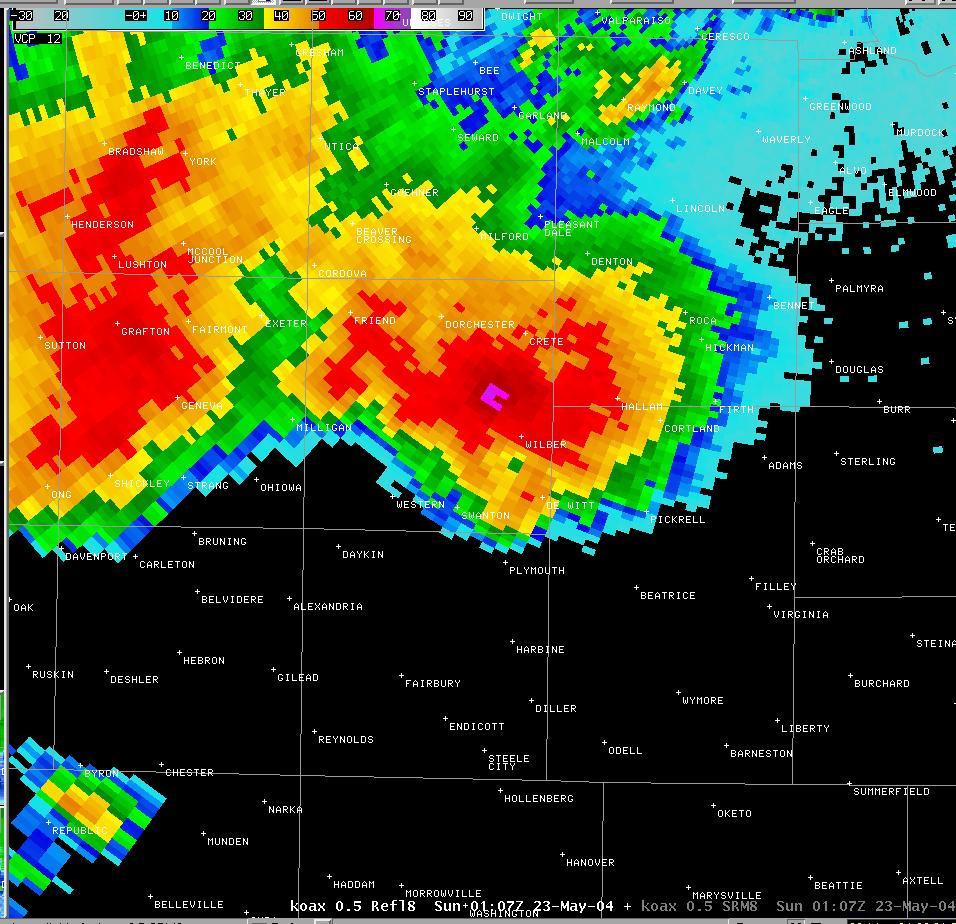 Hallam Nebraska Tornado May 2004