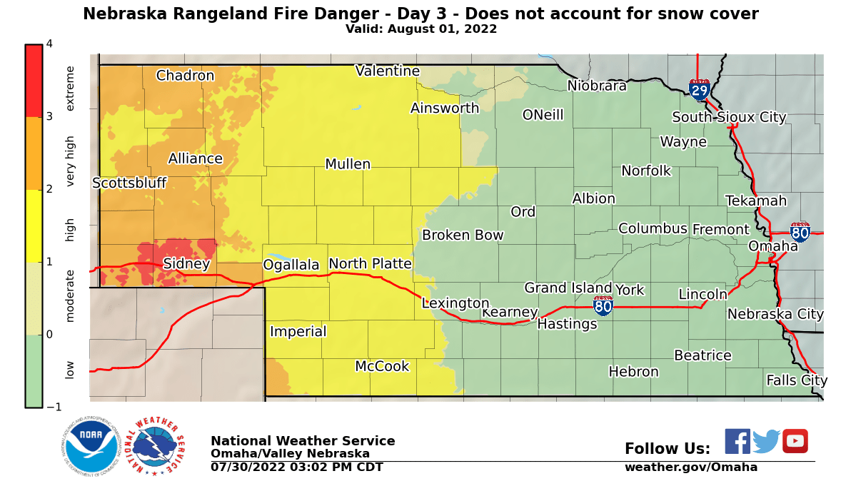 Fire Weather Info Omaha Ne - Omaha-on-us-map