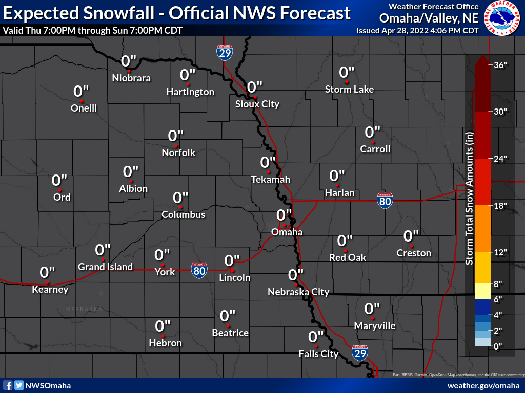 Total Snowfall Accumulation for the Next 3 Days