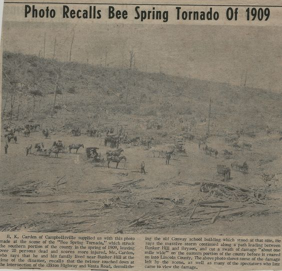 Bee Springs tornado photo