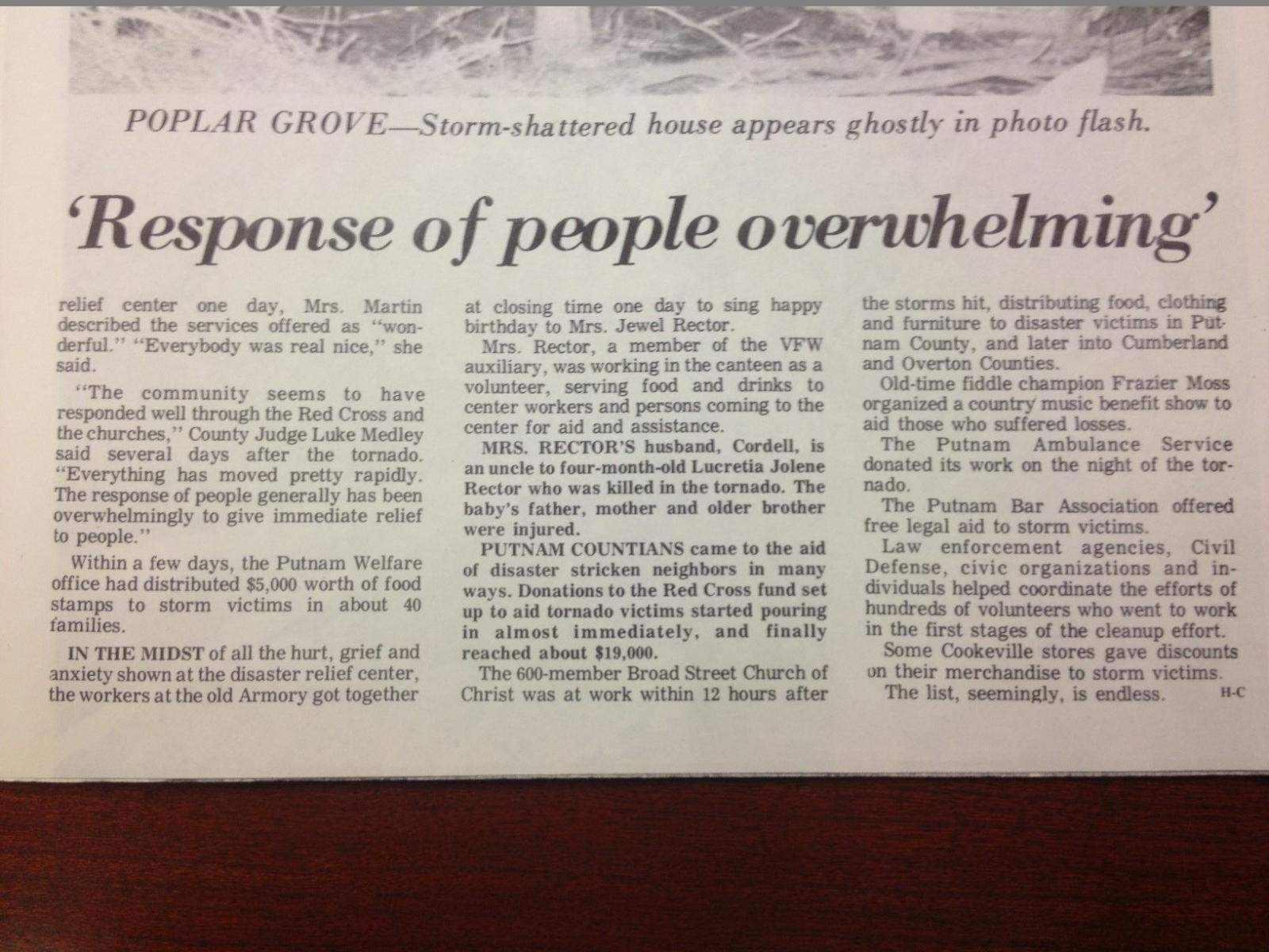 Putnam Herald-Citizen Article