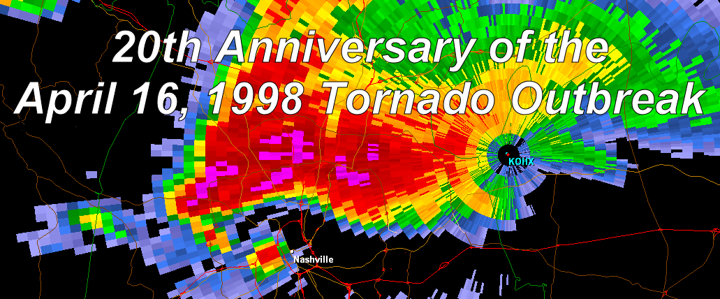 April 16, 1998 Tornado Outbreak Background Image