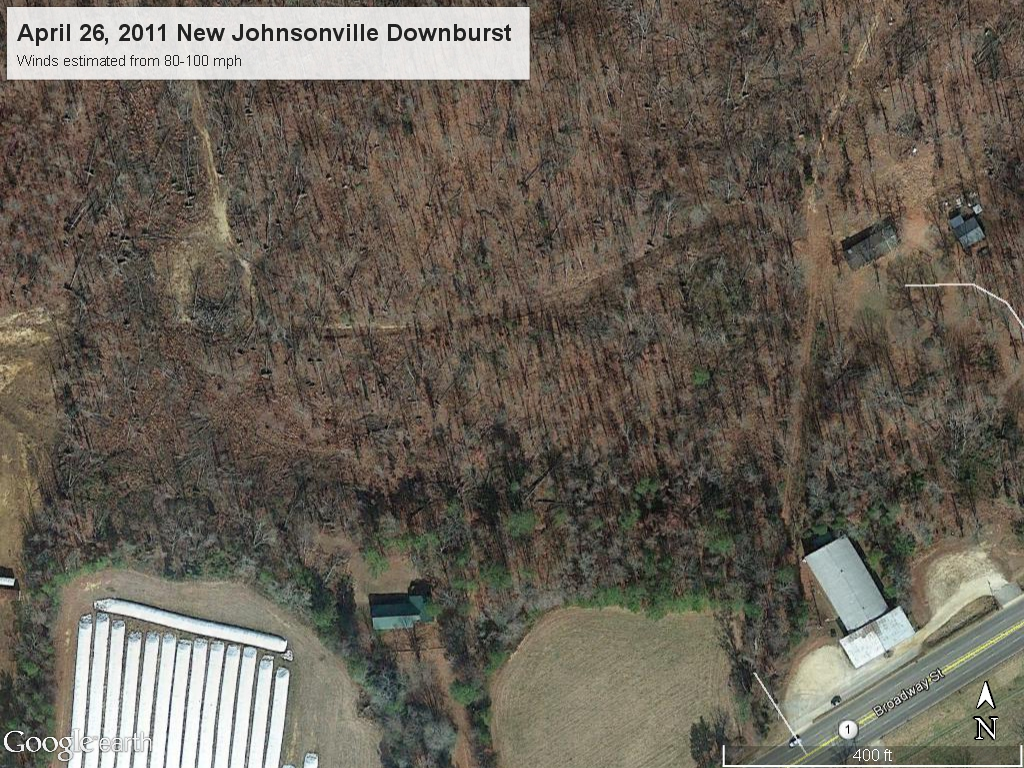 New Johnsonville tree damage