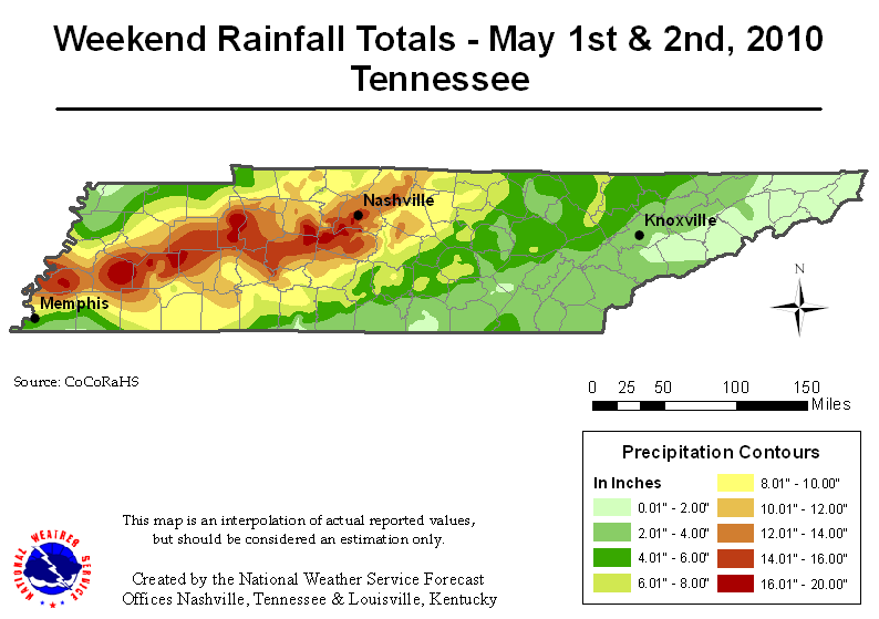 Tennessee Flood Map