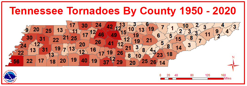 Tennessee Tornadoes 1950 to 2018