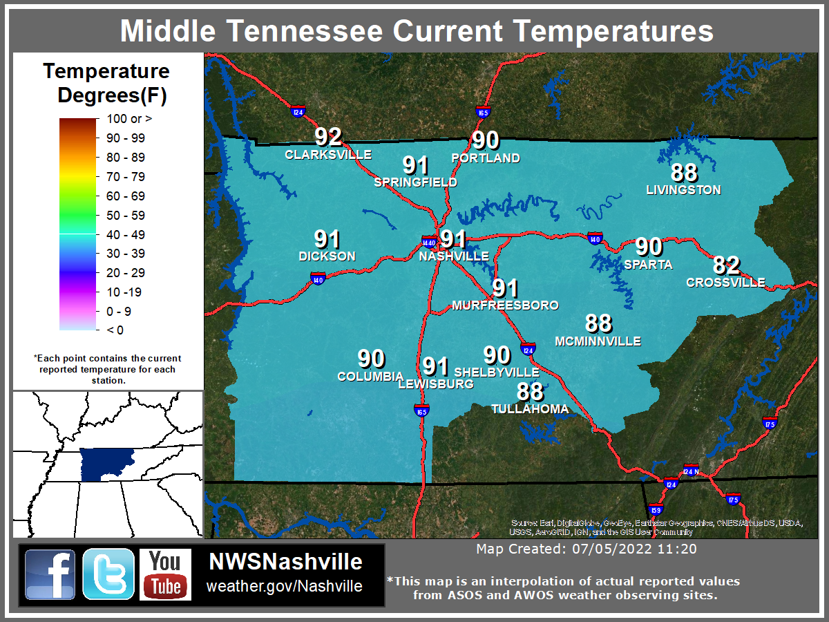 Current Conditions Across Middle Tennessee