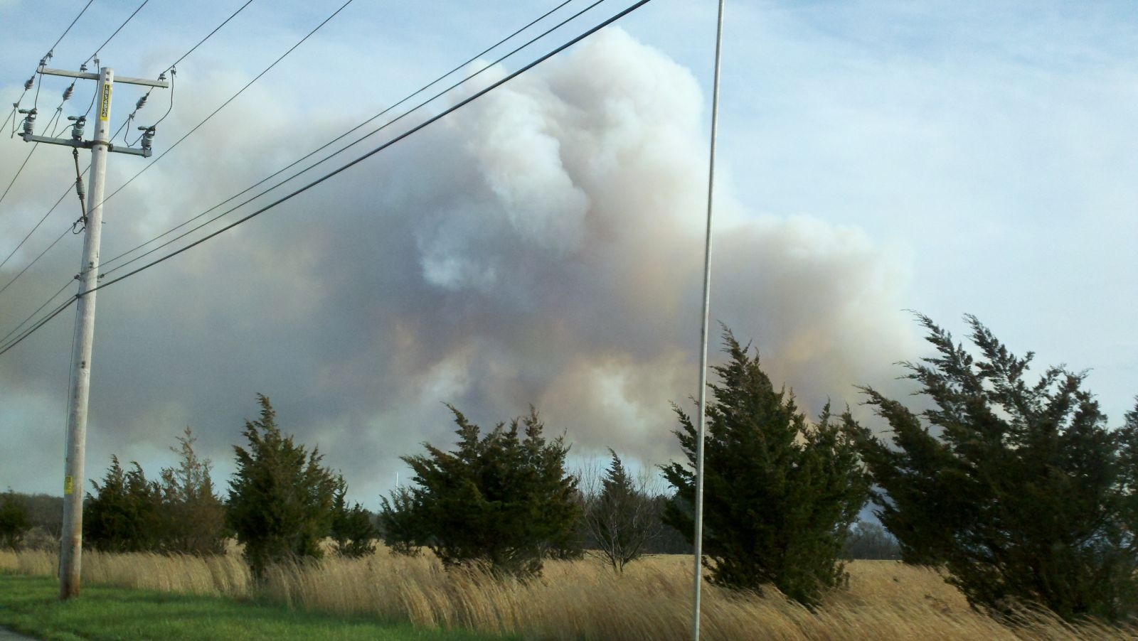 April 9th 2012 Suffolk County Wildfire Image