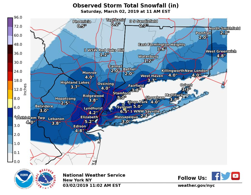 March 2, 2019 Light Snow