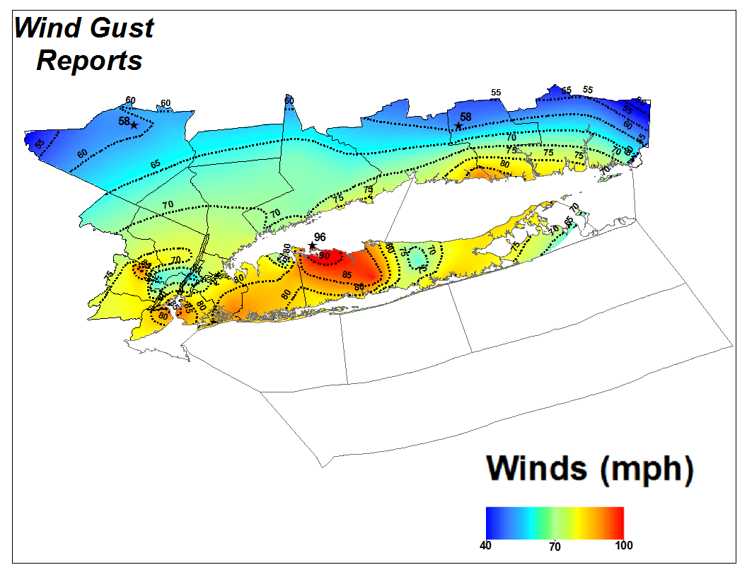 Hurricane Sandy - Nyc map laguardia