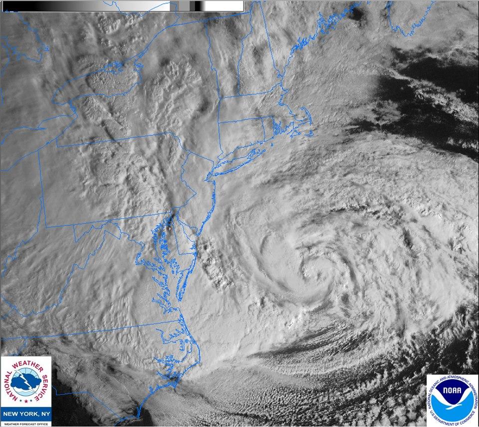 Hurricane Sandy - National weather map and radar