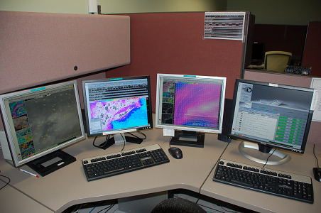 Photo of AWIPS Graphical Display