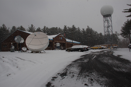 Photo of NWS Office with Radar Tower and Satellite Dish