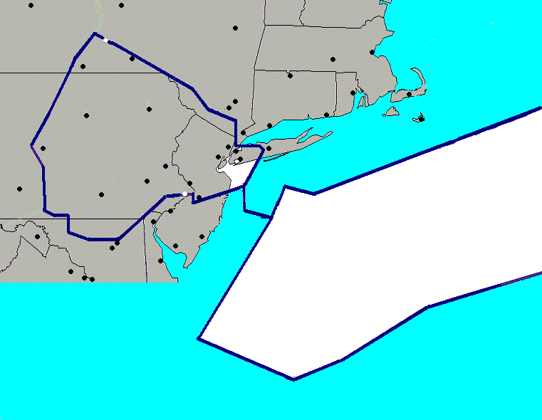 Map of artcc with latest regional TAFs